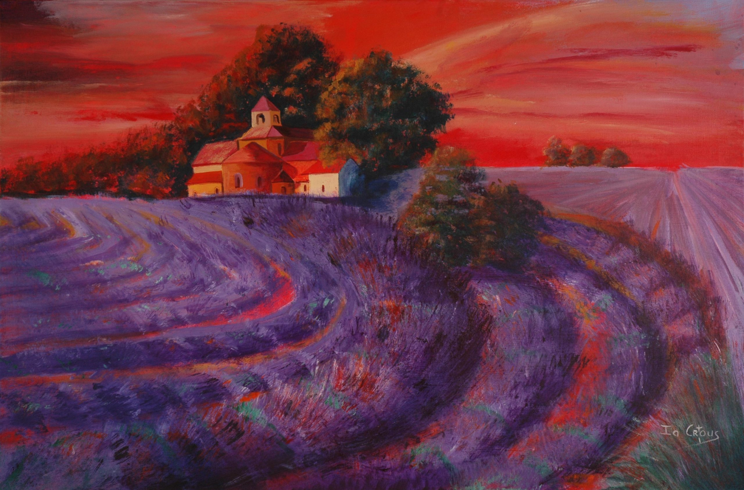 717-SUNSET IN PROVENCE